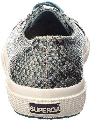 Superga 2750-Cotsnakew, Chaussures de Gymnastique Femme Multicolore (969 Snakegreenspruce)