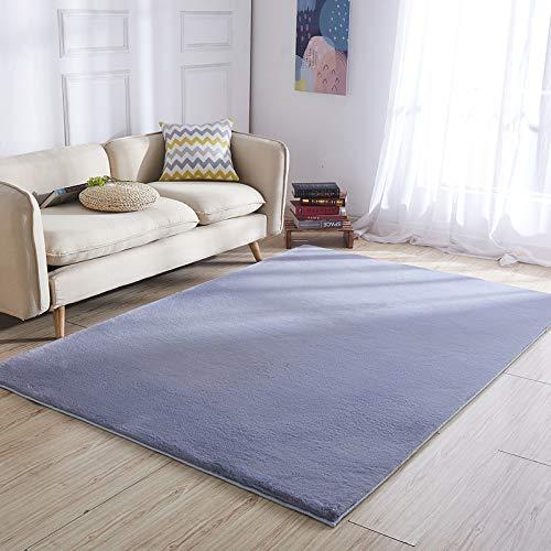 Latex-freie, Nicht-kleber (JCCOZ Plüsch Teppich Schlafzimmer Erkerfenster Hause Matte, Schlafsofa Kunstpelz Teppich, Raumdekoration Decke Teppiche (Color : B, Size : 80cm×180cm))