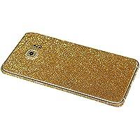 Skitic Sparkle Adesivi Film Protettore per Samsung Galaxy S6, Bling Glitter Sticker Custodia Case Bumper Cover Copertura Prottettiva Screen Protector per Samsung Galaxy S6 - Oro