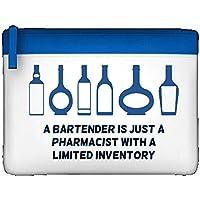 Un barman es solo un farmacéutico con un limitado inventario Funny declaración camarero estuche de regalo caso, color azul talla única