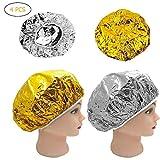 Tappo Termico Premium in Alluminio Alluminio Cappello per Capelli Olio per Capelli Cappuccio Termico per Capelli Termici Fai-da-Te Microonde Cappello per Capelli condizionatore Cuffia