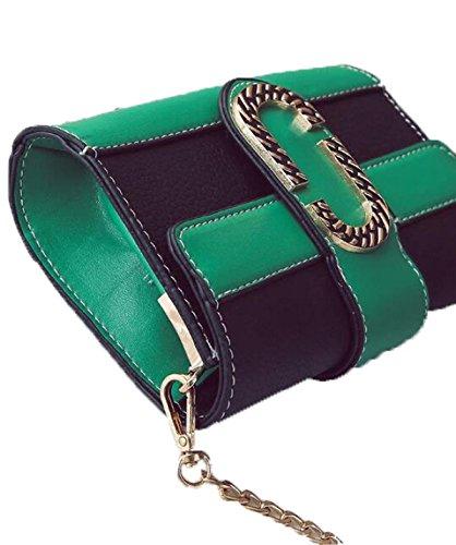 Fabelhaft Neuer Schlag-Farben-Paket-Paket-Art- Und Weisebeiläufiger Schulter-Kurier-Beutel GreenWithBlack