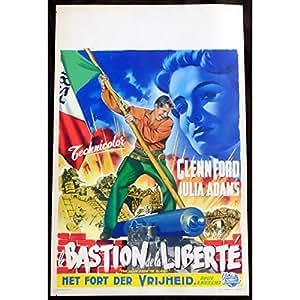 LE DESERTEUR DE FORT ALAMO Affiche de film 35x55 - 1953 - Glenn Ford, B. Boetticher