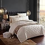 Reine Farbe Romantische Bettwäsche Doppelhochzeit Hotel 100% Atmungsaktive Baumwolle Bettbezug Sets Bettwäsche Mit Kissenbezüge, C, 200cmx230cm