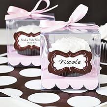 Prettyia 12x Cubo Transparente Cupcake Boxes Mini Cake Container Cajas De Regalo De Navidad Favores De