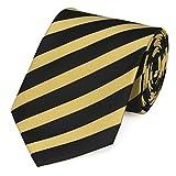 Elegante 8-cm Herren Krawatten von Fabio Farini, perfekt für Buisness, Hochzeit oder Abschlussball, Schwarz-Gold gestreift