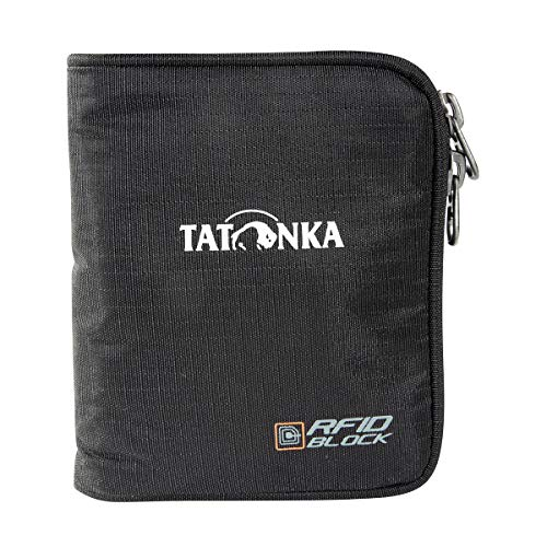 Tatonka Unisex - Erwachsene Zip Money Box RFID B Geldbeutel, Black, 9 x 11 x 2 cm