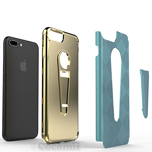 iPhone 8 Plus / 7 Plus Hülle, Cocomii Angel Armor NEW [Heavy Duty] Premium Tactical Grip Kickstand Shockproof Hard Bumper Shell [Military Defender] Full Body Dual Layer Rugged Cover Case Schutzhülle A Rose Gold