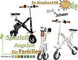 2x Airwheel E6 zum unschlagbaren Vorteilspreis (Weiß, Weiß) Faltbares Elektrofahrrad E-Bike Pedelec (Weiß/Weiß)