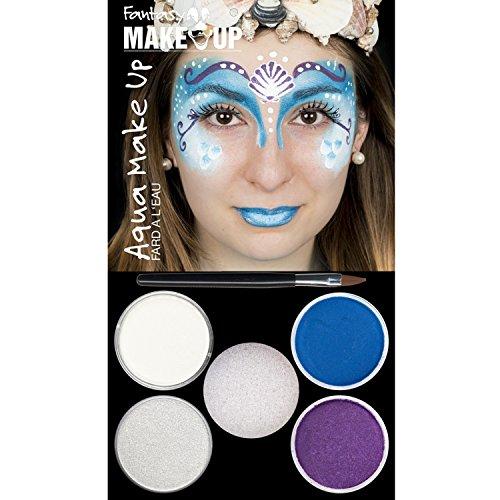Hesse & Voormann Aqua Make Up 4er Picture Pack Verschiedene Designs 4 Farben Schwämmchen Karneval (Meerjungfrau)