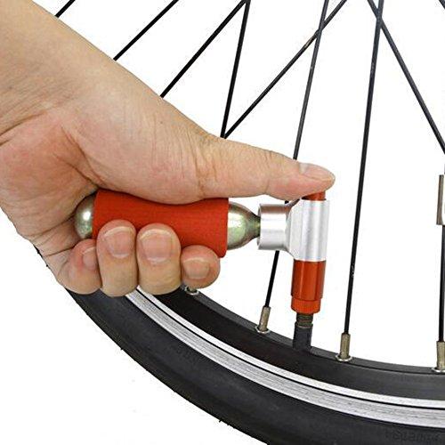 Swamp Paese CO2pompa Mini pompa per bicicletta Inflator Portable Ball pompa a mano, Pumpe mit 16g Kartusche