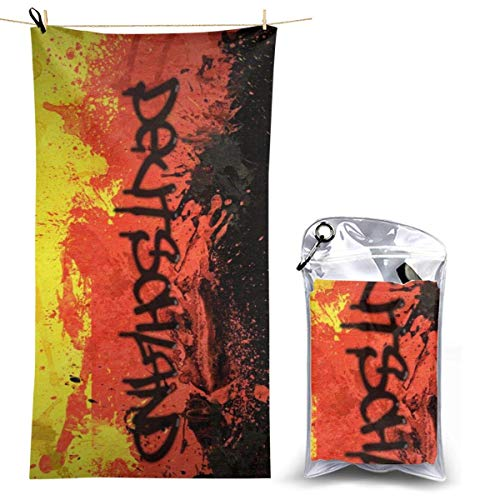 YUYUTE Badetuch, Beach Towels Hand Towel Sheets Deutschland Germany Flag Art Bath Linen Blanket Covers Fast Dry Hiking Large Popular Travel Pool Swimsuits Washcloths