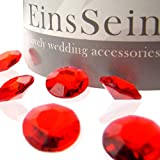 EinsSein 1000x Cristalli di Diamanti Scintillanti Acrilico 12mm Rosso Decorativi Diamante Diamantini Cristallo Acrilico Confetti Brillantini Cuore Decorativo Matrimonio Tavolo Decorazioni tavoli