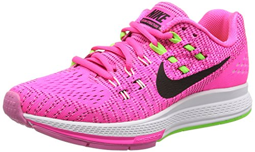 Nike W Air Zoom Structure 19, Scarpe sportive, Donna Rosa (Pink Blast/Blck/Elctrc Green/White)