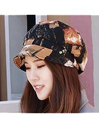 RangYR Sombrero De Mujer Sra. Cap Sombrero Roto Gorro De Algodón Gorro De  Sol Sombrero De Sol Sombrero De Primavera Y Verano Boina… a37d179cd8d