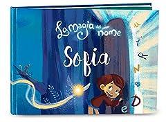 Idea Regalo - Libro bambini personalizzato La magia del mio nome di My Magic Story Regalo per nascita battesimo 1° giorno di scuola idea regalo per bambine bambini che iniziano a leggere, bambini 0-8 anni