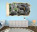 3D Wandtattoo Drache Kopf China Asien Fest Tapete Wand Aufkleber Wanddurchbruch Deko Wandbild Wandsticker 11N1303, Wandbild Größe F:ca. 97cmx57cm