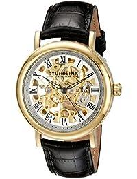 Stührling Original 313A.333531 - Reloj analógico para hombre, correa de cuero, color negro