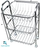 #9: Royal Shappire Stainless Steel Fruit And Vegetable Trolley