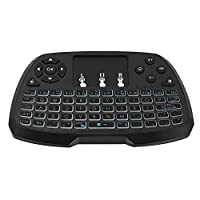 Backlit 2.4GHz Wireless Keyboard Touchpad Mouse Handheld Remote Control 4 Colors Backlight for Android TV BOX Smart TV PC Notebook
