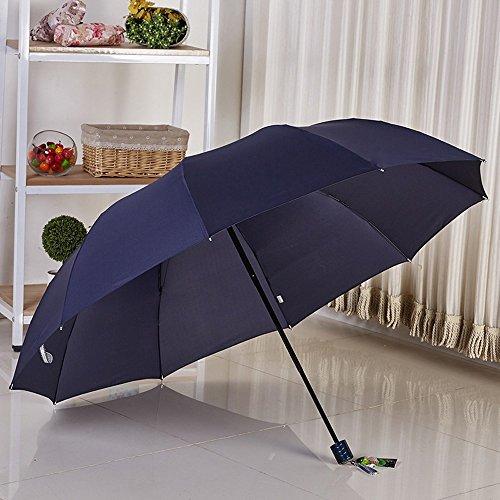 KHSKX Acciaio nero ombrello extra large ripiegabile ad ombrello ombrelloni,miscelazione