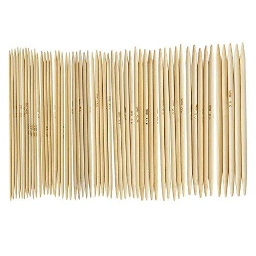 Romote 11 Piezas de bambú Agujas de Tejer de Doble Punta Agujas...