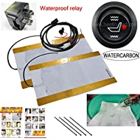 Calentadores de agua resistente al agua de carbono con un invierno calefacción almohadilla de asiento calefactable para asiento de coche con calefacción ...