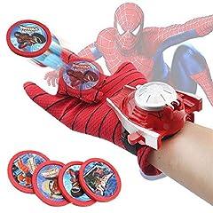 Idea Regalo - Dorime 2019 Cosplay Marvel Avengers Super Heroes Guanti Laucher Spiderman Batman Ironman Guanto Props Regalo di Natale per i Bambini Giocattoli