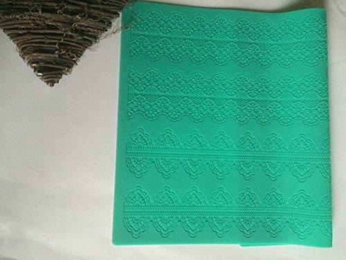 Silikon matte essbare Spitze Tortendeko Cake Lace Ausstechform Fondant Mould Ausstecher 138 (Decor Frozen Cake)