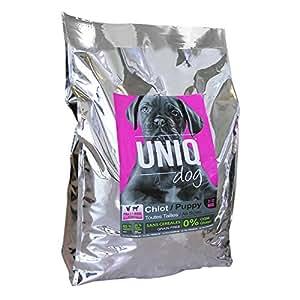 UNIQ DOG Croquettes Ultra Premium Chiot - sans céréales - poulet, dinde, agneau - 12 kg