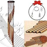 HUDDU Campanelli Tubolari Decorazione Giardino Arredamento - Campane Carillon a Vento all'aperto 36 inch Eolici Metallo 18 Tubi in Lega di Alluminio Wind Chime Windbells Patio Terrazza Cortile
