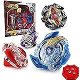 OBEST NIU Conjuntos de Metal de Peonzas Spinning Fusión 4D 4 Box Gyro Lucha Maestro Cadena