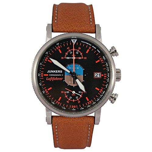 Reloj de pulsera Junkers para hombre con cronógrafo. Edición limitada de piloto de aviones 3588-8