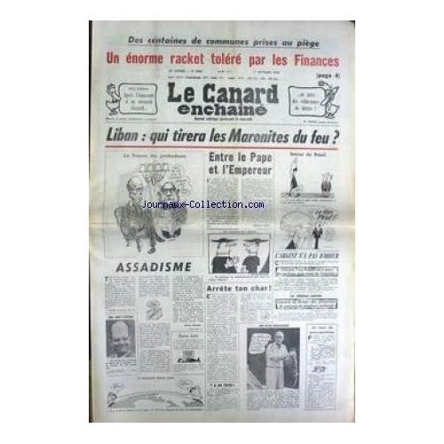 CANARD ENCHAINE (LE) [No 3024] du 11/10/1978 - DES COMMUNES PRISES AU PIEGE - L'AMAZONIE - GISCARD - LIBAN - LES MARONITES - LE PAE - G. MACE - J. LAP - BARRE - GISCARD.