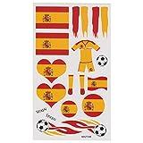 LIHAO Fan-Schminke Spanien für EM 2017 Flagge Tätowierungen Fußball Weltmeisterschaft (4 Stk.)