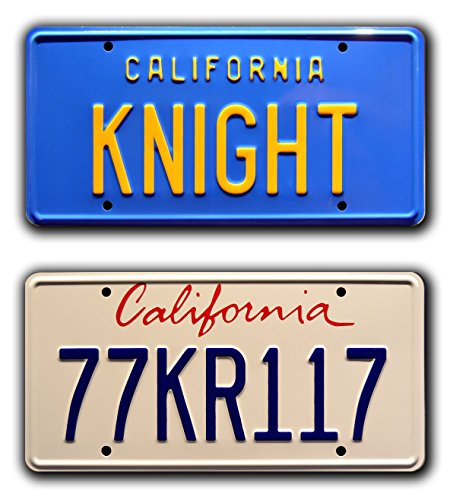 Preisvergleich Produktbild Celebrity Machines Knight Rider / kitt Trans Am / Knight + 77 KR117 / Metall Prägung Vanity Prop Nummernschild Combo