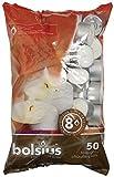 Bolsius bougies chauffe-plat 8 heures - 50–Blanc-Lot de 50 bougies chauffe-plat (1 sachet)