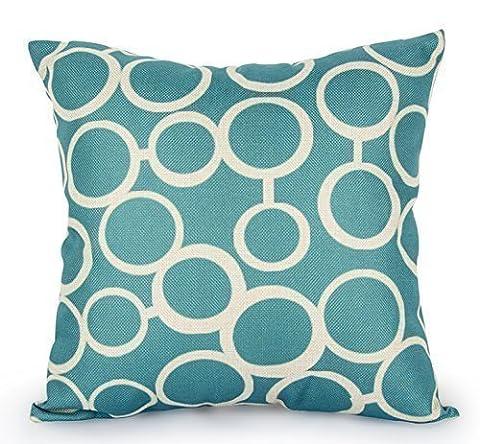 Scandinavian Coton Linen Pillow Cover Cushion with Pillow - Decorative Pillow Set - Pillow Cases Turquoise - Pillows Decorative Natural Feathers 18x18