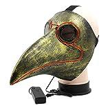 Yalatan Halloween-Maske Glowing Bird Head Mask mit Langer Nasenmaske für Halloween-Kostüm
