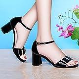 AJUNR-Damen Neue Mode Schuhe Die Neue high-heeled Schuhe Dick mit Sommer Sandalen Sexy Wild mit dem Wort Sommer Damen Schuhe Tide -