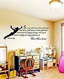 Berühmten Cartoon Figur Peter Pan Tinkerbell abnehmbare Tapetensticker kunst Wandbild Wandsticker Kids Home Dekoration