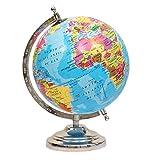 #2: Balliatic Educational Rotating 8 inch World Globe with Nickel Plated Metal Base