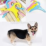 ELECTROPRIME® Anti-Slip Dog Cat Pet Clothes Hanger Apparel Hangers Random Color Pack of 10
