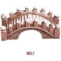 Miniatura Casa Decor Ponte Fata Giardino Terrario Statue Figurine ornamenti accessori per la casa, Resina, Yellow Brick, 1.5*4.5*2cm