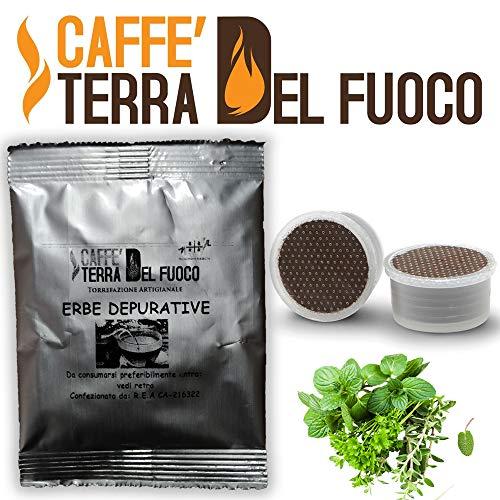 100 capsule tisana mix erbe depurative compatibili sistema lavazza espresso point caffè terra del fuoco
