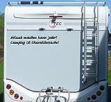 Aufkleber Urlaub machen kann jeder Wohnmobil Wohnwagen Camping Camper Caravan - 100 cm / Schwarz