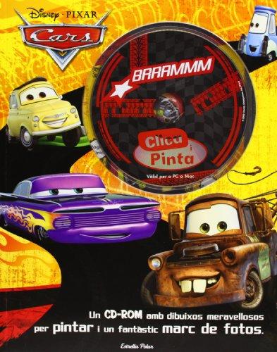 Clica i pinta. Cars: Un CD-ROM amb dibuixos meravellosos per pintar i un fantàstic marc de fotos (Disney) por Diversos Autors