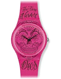 Swatch Reloj de cuarzo Unisex Time Never Dies Pink 34 mm