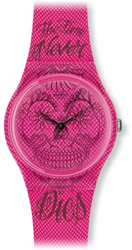 Swatch Reloj de cuarzo Unisex Time Never Dies Pink 34 mm