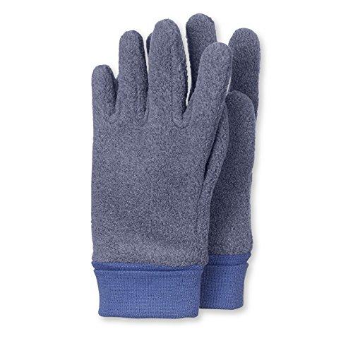 Sterntaler Jungen Fingerhandschuh Handschuhe, Blau (Jeans Melange 347), 3